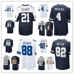 Wholesale 2017 Cowboys Ezekiel Elliott Dak Prescott Dez Bryant Jason Witten Jersey Mens Elite Throwback Rush Cheap Authentic Stitched Football Jerseys