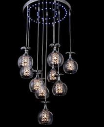 2017 pendeloques de cristal Verre à vin clair moderne Verre à suspension en cristal K9 Crystal Salon Lustre à suspension suspendue Suspension à lumière bleue LFA pendeloques de cristal offres