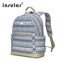 Wholesale Boheimia Style Canvas Women School Backpack Men Backpack Teen Girls Backpack Laptop Bag