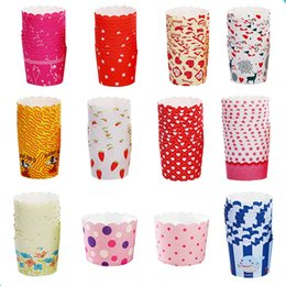Wholesale 50PCS Multi Colors Muffin Cupcake Case High Temperature Paper Cake Holder Cups Wedding Festival Party Cake Decorating Supplies Wrappers