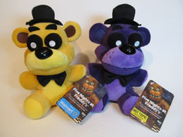 Wholesale 18CM FNAF Funko Five Nights at Freddys Exclusive PURPLE Shadow and GOLD Bears Gift