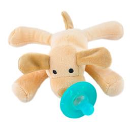 Chupetes recién nacidos del silicón del bebé infantil con el animal doméstico peludo de la felpa desde silicio w fabricantes
