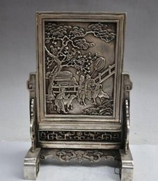 Wholesale Modern Art Sculpture Figurine quot china silver Classical animal people statue Patterns Screens Wall Decorative