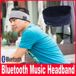 Bluetooth Music Headband Stereo Wireless Headset Mens Womens Sports Running Fitness Yoga Running Stretch Head Wrap Caps Perfect Gifts