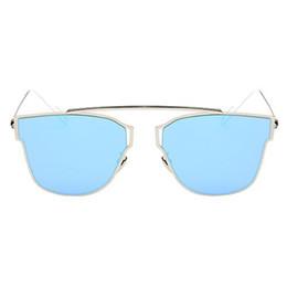 Скидка качество панели S5Q Unisex Премиум качества солнцезащитных очков металлический каркас плоскопанельный объектива Солнцезащитные очки AAAGGT