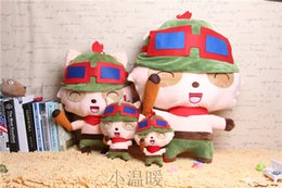 Wholesale Hot Sale The Swift Scout Teemo cm Cartoon Doll Plush Toy Present For Children s Baby Birthday Holiday Gift