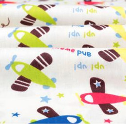 Wholesale Cotton frabic and cotton cloth printing fabric sewing cartoon airplane DIY cloth