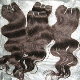 "6pcs lot color #2 dark brown hair extensions Malaysian weave body wave wefts 12""-26"" European new style !!"