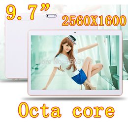 4G LTE 9.7 inch 8 core Tablet PC Octa Cores 2560*1600 IPS DDR 4GB ram 64GB 8.0MP WIFI 4G Dual sim card Wcdma+GSM Tablets pcs Android 5.1