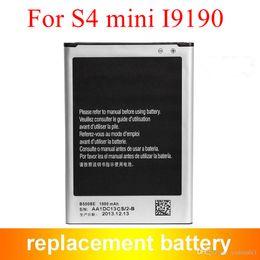 High Quality S4 Mini Battery I9190 Battery For Samsung Galaxy S4 mini I9190 B500BE 1900mAh 3.8V
