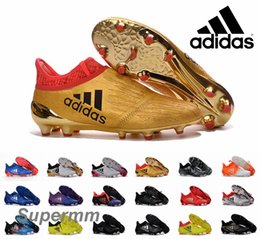 Wholesale Adidas X Purechaos Primeknit Leather Black Soccer Cleats Trainers NSG FG AG Ace Mens Football Boots Soccer Shoes With Box