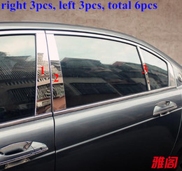 Wholesale High quality stainless steel decoration trims of B pillar of window for Honda Accord