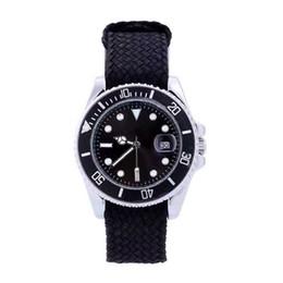 Relojes de cuarzo rojo verde en Línea-Nueva exhibición de la fecha del dial del negro de la correa de nylon del reloj del reloj de cuarzo del cuarzo del reloj de lujo de lujo de la fecha Relojes de la función del papel de los rolejes del reloj de los hombres para el reloj gif de los hombres