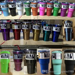 Wholesale Stock in USA Day Quick Shipment OZ Yeti Cups Cooler yeti Rambler Tumbler Car Vehicle Beer Hopper Colster Vacuum Insulated Mug