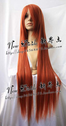 New Long Red-Brown Cosplay Party Straight Wig 100cm free shipping