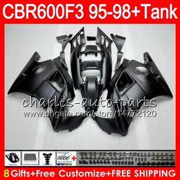 8 Gifts 23 Colors For HONDA CBR600F3 95 96 97 98 CBR600RR FS matte black 2HM11 CBR600 F3 600F3 CBR 600 F3 1995 1996 1997 1998 black Fairing