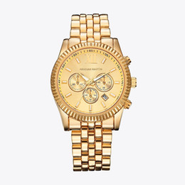 Gold Quartz Watch New Fashion Men and Women Formal Business Casual Steel Watch Luxury Watches