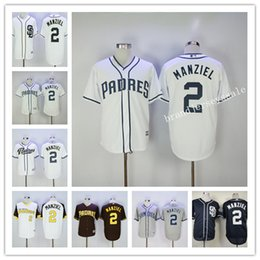 2017 johnny manziel jerseys San Diego Padres Jersey 2 Johnny Manziel Jersey 2017 Blanc Gris Bleu Cool Base Stitched Authentic Broderie Logo Maillots de baseball johnny manziel jerseys autorisation