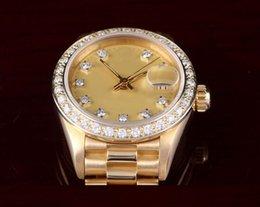 Wr s en Línea-Relojes de lujo relojes hombre fashiot al por mayor relojes de las mujeres 18K Presidente de las señoras de YG, reloj de los hombres mecánicos del dial del diamante de Champán de la fábrica Wr