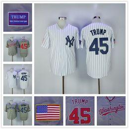 Wholesale Donald Trump Jersey th President Make America Great Again Baseball New York Yankees Washington Nationals