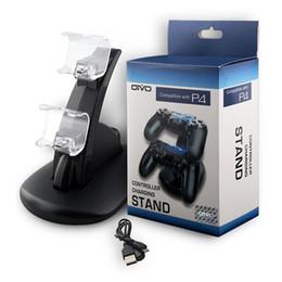 Descuento xbox dual Controlador dual del USB ps4 Cargador Controlador del juego Soporte de carga para la estación del juego de Sony 4 PS4 Carga de la carga de Xbox uno con la caja