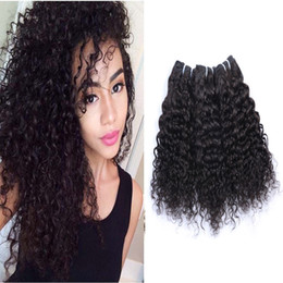 Grade 8A unprocessed virgin hair Double weft Brazilian curly hair 3pcs 50g pc Natural Color virgin human hair weave Extension
