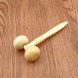 A wooden massager