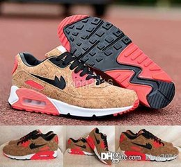 Wholesale 2016 Cheap Max Anniversary Pack Cork Bronze Black Infrared Running Shoes For Men Women Brand Airmax Athletic Sneakers Trainers