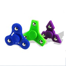 Polyuréthane plastique en Ligne-New Gyro Finger Toy Anxiété Stress Relief Focus Spinner à la main Triangle Polyuréthane en plastique acrylique Spinners EDC Spinning Top 1 3rm