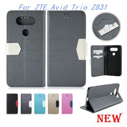 Wholesale Wallet case For ZTE Avid Trio Z831 metropcs Flip pu Leather Beach lines cover credit card slots For HTC ONE EVO V20 MINI