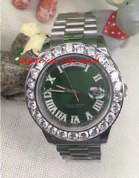 Cerámica blanca reloj de pulsera en Línea-Reloj de pulsera de lujo para hombre día asombroso 2 II 18k 41MM Presidente oro blanco más grande diamante de cerámica bisel mecánico hombres relojes de primera calidad