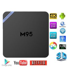 Mini boîte hd en Ligne-Mini M95 Pro S905X Android 6.0 Streaming Media Player 2 Go + 8 Go Quad Core Android TV Box
