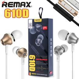 Wholesale Écouteurs intra auriculaires REMAX Écouteurs stéréo écouteurs nouilles avec microphone RM D Tangle Free Cord pour IPhone IPad Téléphones Android Table