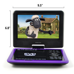 Wholesale HD Portable DVD Player Degree Swivel Rotation Gaming Copy Function TV Radio