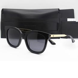 Descuento lentes polarizadas 2016 gentle monster marca diseñador mujer gafas de sol con caja de polarización polarizada lentes gafas de sol para hombres ABSENTE ONE