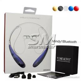 HBS800 Casque sans fil Bluetooth Écouteurs Sport Bluetooth 3.0 Écouteurs Écouteurs intra-auriculaires sans logo Avec boîtier de vente au détail à partir de mains libres universel fabricateur