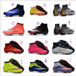 2016 New Mercurial High Quality Superfly 4 FG Soccer Boots CR7 Cleats Youth Kids Boy's Shoes Soccer Shoes Football Shoes