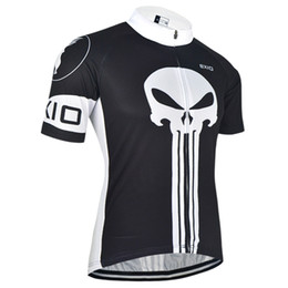 Bxio Brand Hot Sale Men Cycling Jersey Short Sleeve Black Bike Wear Skull Cycling Clothes Maillot BX-0209H024-J
