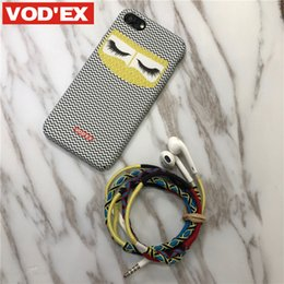 Wholesale Vodex Hand Made Headphone New Fashion Colorful Weave Handfree Handset for all cell phones