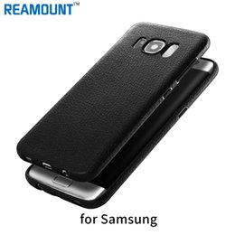 Fashion Style Leather Skin TPU Black Soft Cover for Samsung s8 s8plus Protective Mobile Phone Case Cover