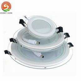 2017 dans la lumière conduit 6w 6W 12W 18W Led downlights Fixture verre rond anti-brouillard vers le bas lumière 110-240V conduit lumières du panneau Cool / Warm White abordable dans la lumière conduit 6w