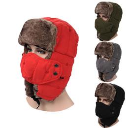 Descuento sombreros trampero Al aire libre cyciling sombrero caliente y piel de melocotón de poliéster Trapper sombreros Corea edición tapas orejeras Master moda para el invierno
