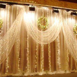 Wholesale 2016 M M х LED Рождество Декоративные светодиодные огни строки Рождество Фея Гирлянды Свадьба праздник Занавес огни лампы освещения