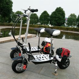 Wholesale X7 four stroke CC folding pedal fuel booster petrol scooter travel mini mini motorcycle DHL