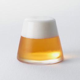 Wholesale new arrival beer glassware mughigh borosilicate glass japanese style Fujiyama personalised mugs hot sale