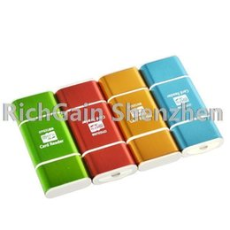 5PCS Mini 2in1 Multi Couleurs Aluminium USB2.0 OTG TF Card Reader Writer Adaptateur microSD pour Tablet Computer pour Smart Phone à partir de fabricateur