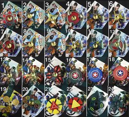 Jouet à araignée en Ligne-73types Nouvelle arrivée Fidget spinner The Avengers Cartoon épiderme de fer homme Hand Spinners jouets spinning top EDC Marvel Comics dans Retail box 100