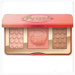 Wholesale 2017 Sweet Peach Glow infused Bronzers Highlighters makeup blush palette Factory Direct DHL