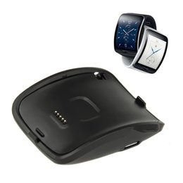2016 Portable Charging Dock Charger Cradle for Samsung Galaxy Gear S Smart Watch SM-R750 with usb cable.5% off promotion for 2 Pcs.