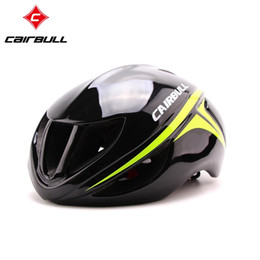 Wholesale CAIRBULL Hot New Aero Professional Road Racing Bike Helmet Ultralight TT Track Bicycle Helmet Adult Men and Women Cycling Helmet
